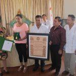 Entregan 'Premio Departamental  de Cultura' a Luís Rivero Parada