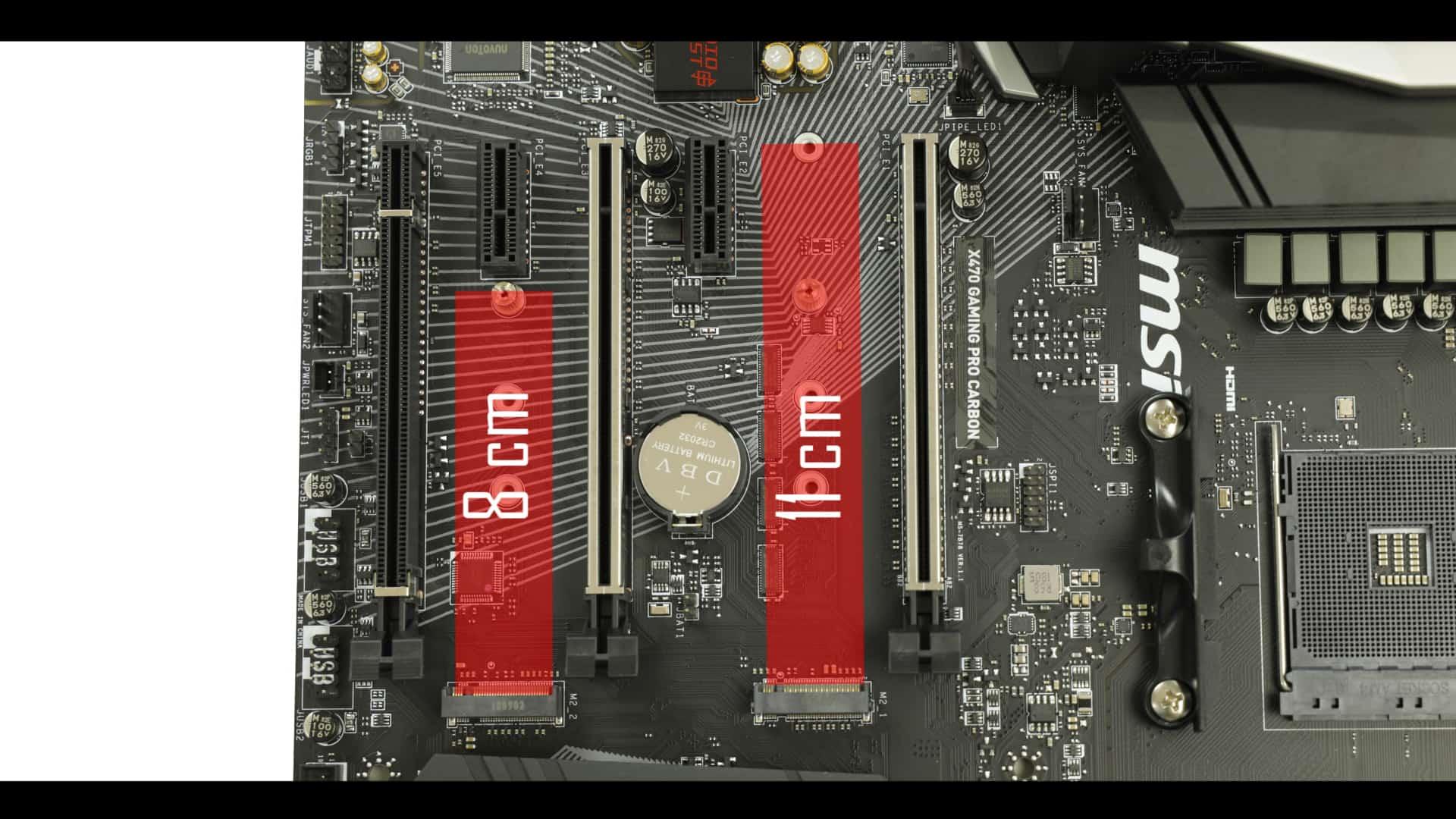 MSI X470 Gaming Pro Carbon M.2 SSD