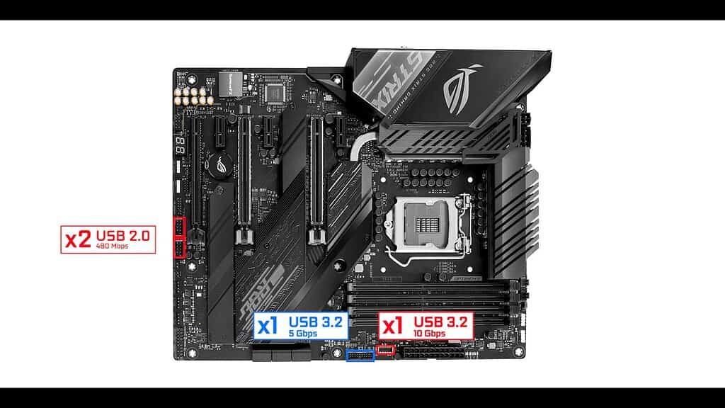 ROG STRIX Z490-E USB