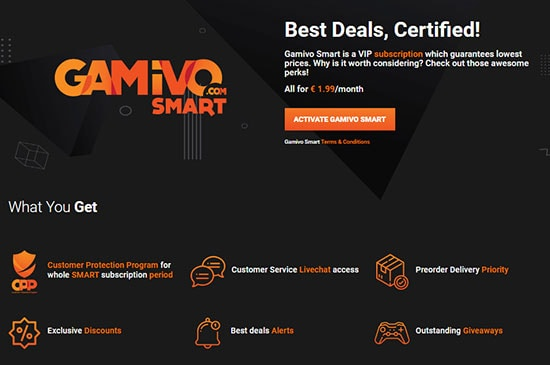 gamivo smart subscription