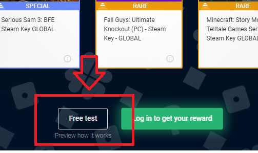 You can preview how G2A Loo works by using G2A Loot free test option.