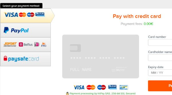 There are several payment gateway options when paying on Instant Gaming including credit card, Paypal, etc.