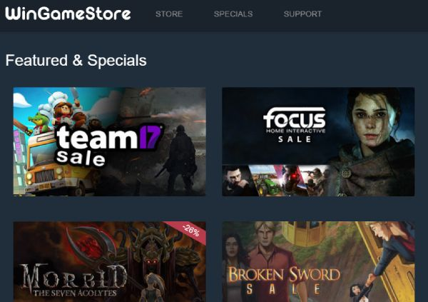WinGameStore is a distributor of digital download games for Windows and Linux.