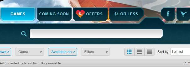 GamersGate search bar.