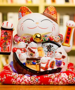 New Fortune Maneki Neko Decoration Waving Cat