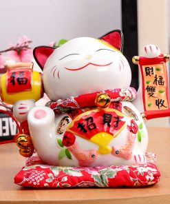 7 inch Maneki Neko Porcelain New Lucky Cat