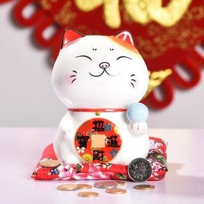 6 inch Smile Maneki Neko Lucky Cat