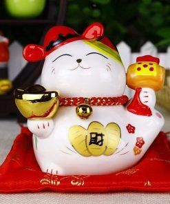 Maneki Neko 4 inch Ceramic Fengshui Cat Best Seller