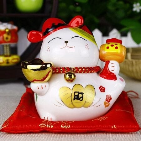 Maneki Neko 4 inch Ceramic Fengshui Cat Best Seller