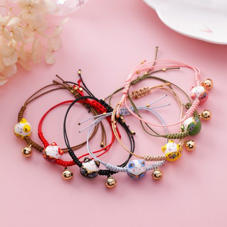 Handmade Colorful Rope Lucky Cat Bracelet