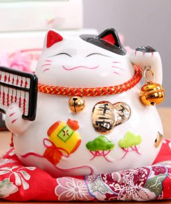 6 inch Maneki Neko White Lucky Cat