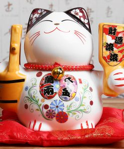 5 inch Hot Ceramic Maneki Neko Statue Porcelain