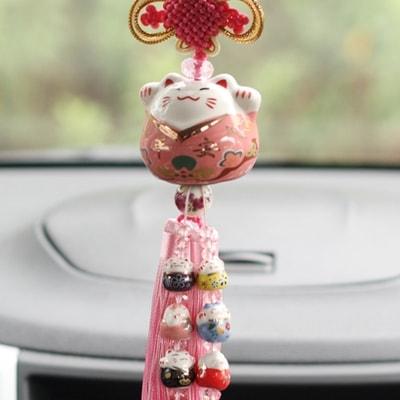Fortune Cat Maneki Neko Car Hanging Ornament