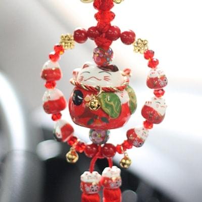 New Car Hanging Ornament Maneki Neko Lucky Cat