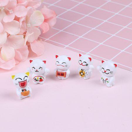 5pcs Maneki Neko Lucky Cat Decorations