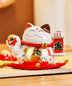 Hot 4 Inch Ceramic Fengshui Cat 2019 Maneki Neko