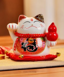 4 Inch Ceramic Fengshui Cat 2019 Maneki Neko