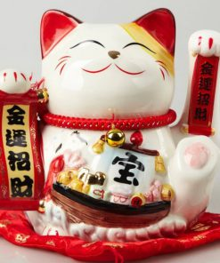 9 inch Hand Waving Maneki Neko Lucky Cat
