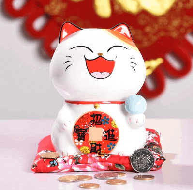 6 inch Cute Maneki Neko Lucky Cat