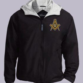 Masonic Embroidered black jacket featured