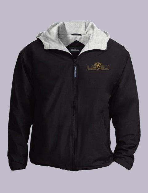 On The Level Embroidery Masonic Jacket On The Level Masonic Jacket Black