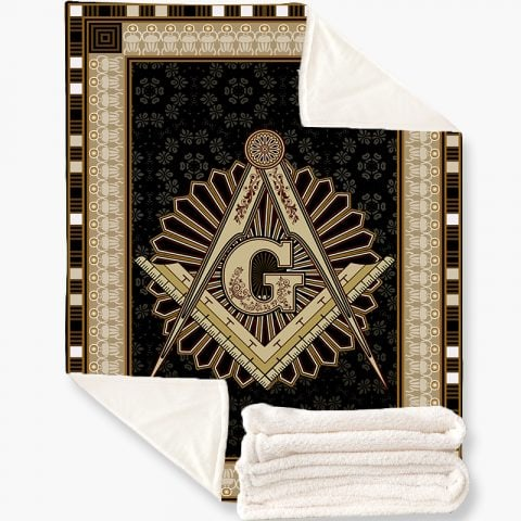 Masonic Fleece Blanket k1