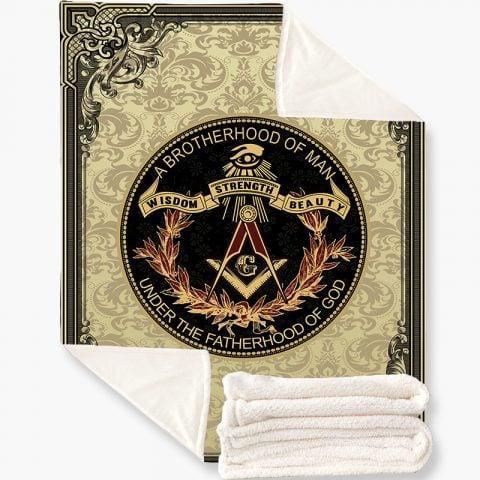 Brotherhood Masonic Fleece Blanket k2