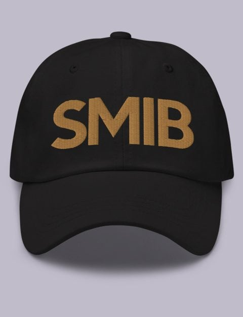 SMIB Masonic Hat Old Gold Embroidery Embroidery SMIB masonic hat black