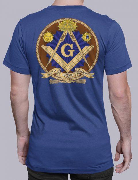 Faith Hope and Charity Masonic T-shirt Faith Hope and Charity royal shirt back 3