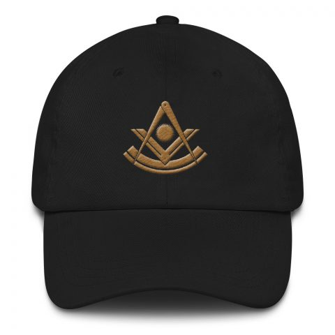 Past Master Masonic Hat Embroidery Old Gold mockup 45d0a64a
