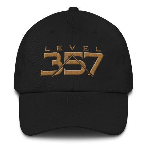 Level 357 Masonic Hat Old Gold mockup cfce50e1
