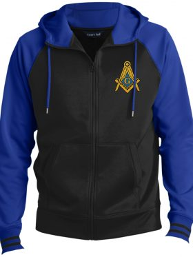Freemason Symbol Hooded Masonic Jacket