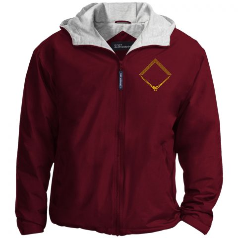 Square and Compass Embroideried Masonic Jacket Square and Compass Masonic Embroidery Jacket Maroon 1