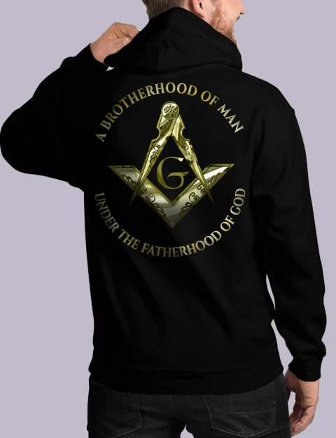 A Brotherhood Of Man Masonic Hoodie bros of man 2 back black hoodie 1