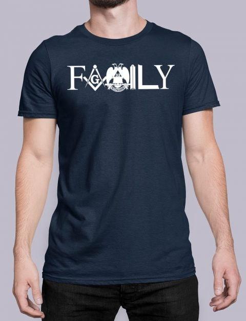 Family Freemason T-shirt family front navy shirt 10
