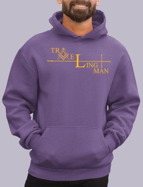 Traveling Man Masonic Hoodie traveling man purple hoodie