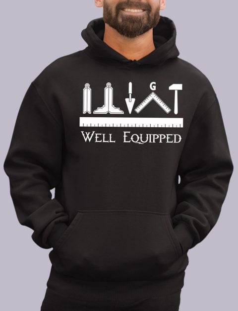 Well Equipped Masonic Hoodie well e black hoodie
