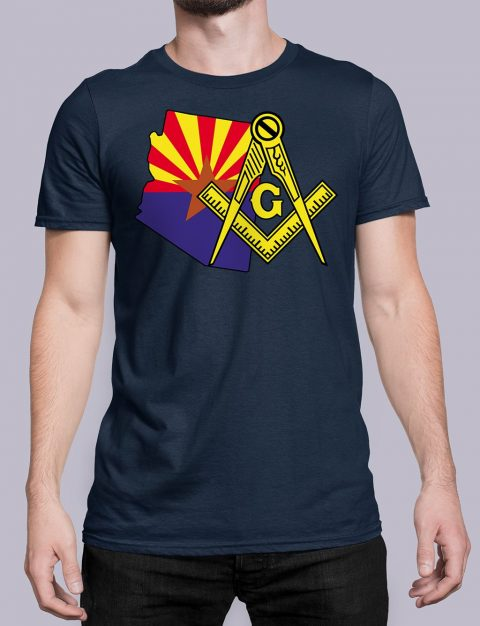 Arizona Masonic Tee Arizona navy shirt