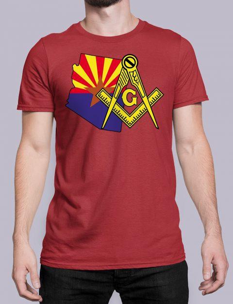 Arizona Masonic Tee Arizona red shirt