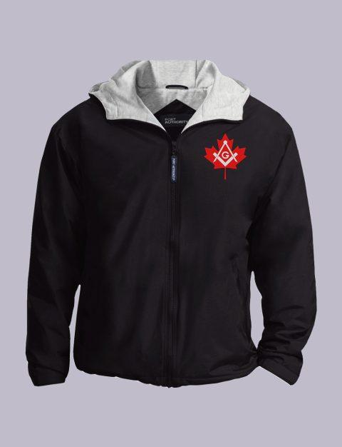 Canadian Freemasons Embroidered Jacket Black