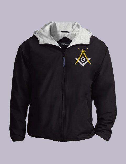 Filipino Freemasons Embroidered Jacket Black