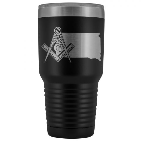 South Dakota Masonic 30oz Tumbler South Dakota Masonic Black Tumbler