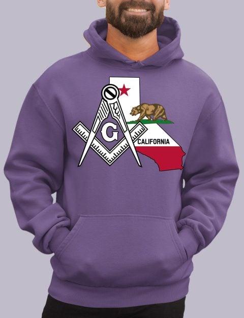 California Masonic Hoodie california purple hoodie