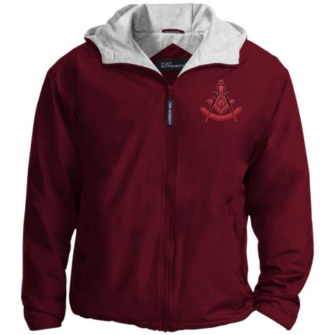 Past Master Red Embroidery Masonic Jacket New red past master maroon jacket