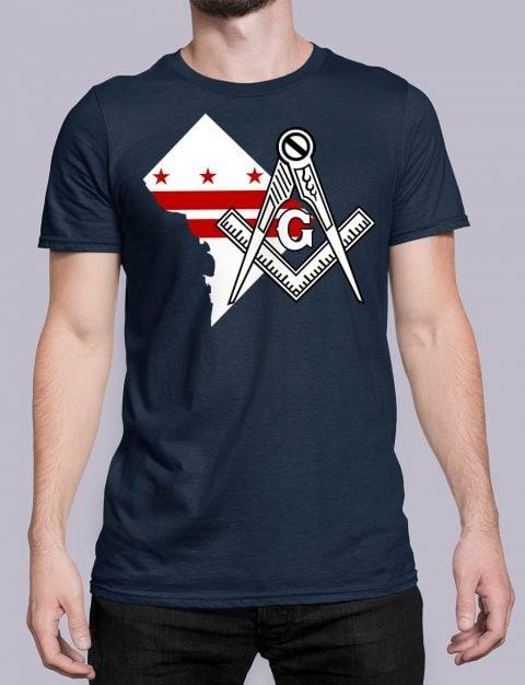 Washington DC Masonic T-Shirt Washington DC navy shirt