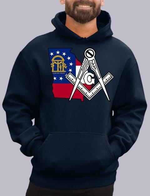 Georgia Masonic Hoodie georgia navy hoodie