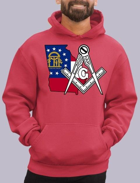 Georgia Masonic Hoodie georgia red hoodie