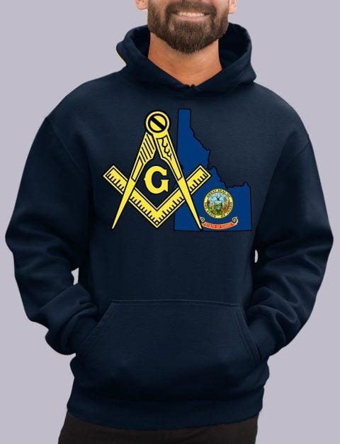 Idaho Masonic Hoodie idaho navy hoodie