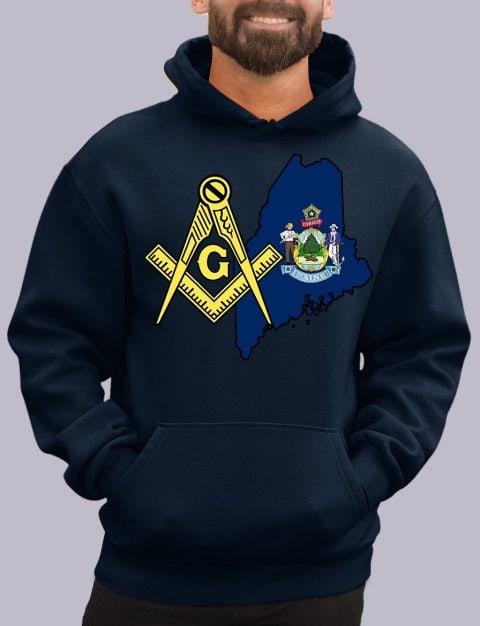 Maine Masonic Hoodie maine navy hoodie