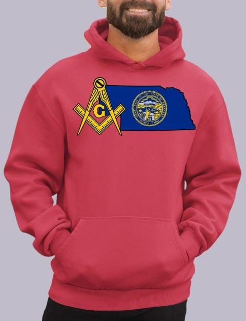 Nebraska Masonic Hoodie nebraka red hoodie